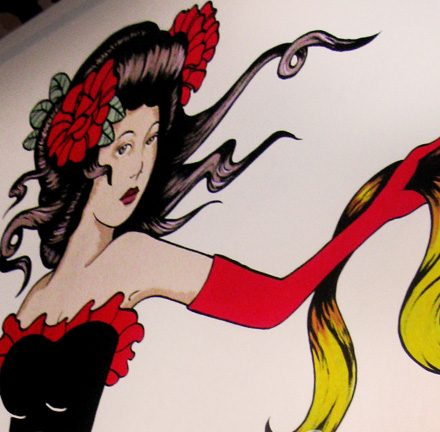 Burlesque Girl Mural Painting