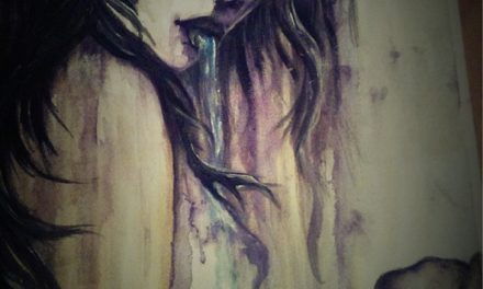 Water Colour Dribbles Girl