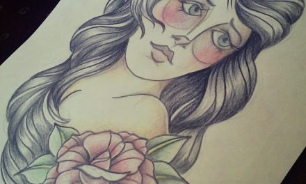 Drawing of A Gypsy Girl