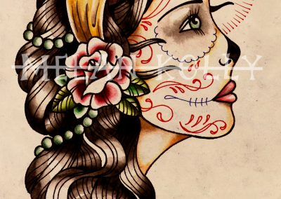 Gypsy Profile Tattoo Design