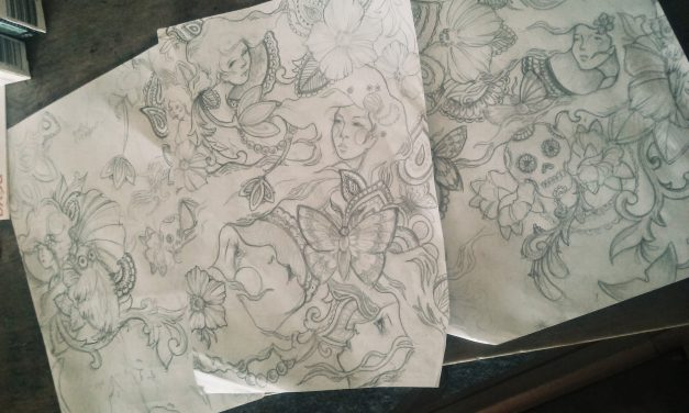 Sketching Ideas for a Tattoo Sleeve