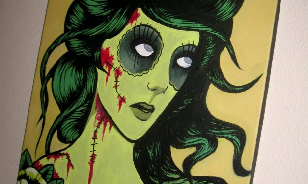Zombie Girl on Canvas