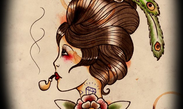 Pipe Girl – Tattoo Design